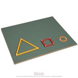 Plateau de construction figures géométriques