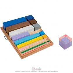 Matériel pour construction des cubes