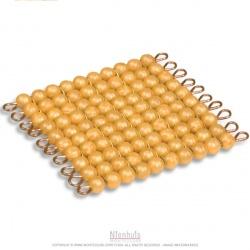 Carré de 100 perles indiv. Nylon
