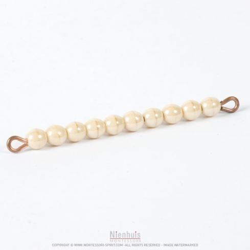 Barre de 10 perles individuelles verre