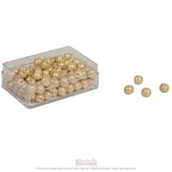Boite de 100 perles en verre individuelles avec trou
