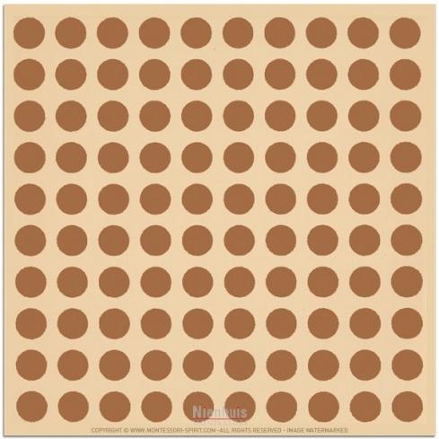 Papier pour recouvrir les carrés et cubes