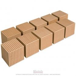 Cubes des milliers en bois x 10