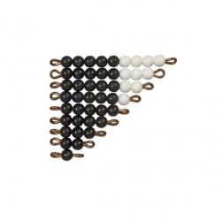 Set de perles noires et blanches indiv. nylon X1