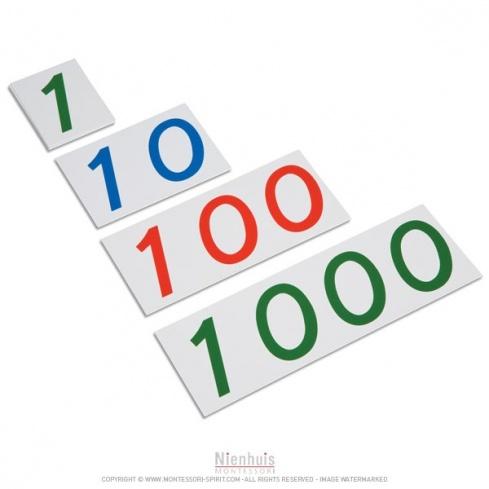 Grands symboles de 1 à 1000 en plastique