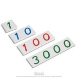 Petits symboles de 1 à 3000 en plastique