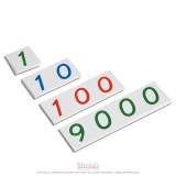 Petits symboles de 1 à 9000 en plastique