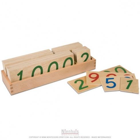 Grande boite des symboles de 1 à 9000 en bois
