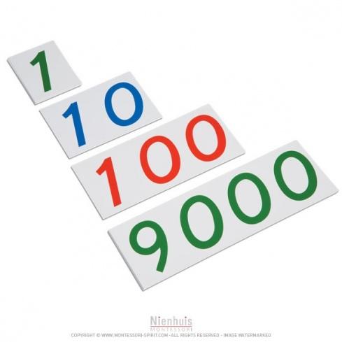 Grands symboles de 1 à 9000 en plastique