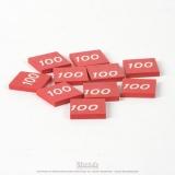 Timbre du chiffre 100 (x10)