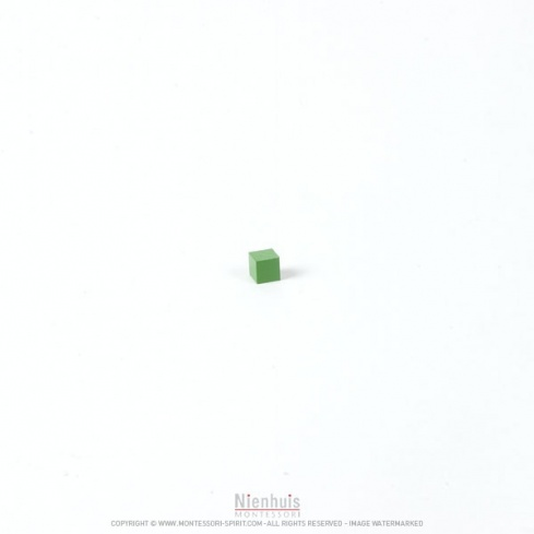 Cube vert matériel hiérarchique 0,5x0,5x0,5