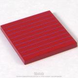 Tablette rouge matériel hiérarchique 5x5x0,5