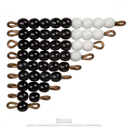 Set de perles noires et blanches indiv. verre X1