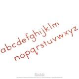 Petit alphabet mobile : script international - rouge