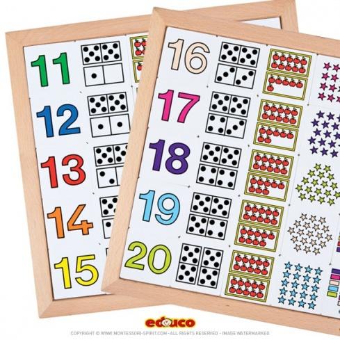 Extrem Apprendre à compter de 11 à 20 - Montessori Spirit DT48
