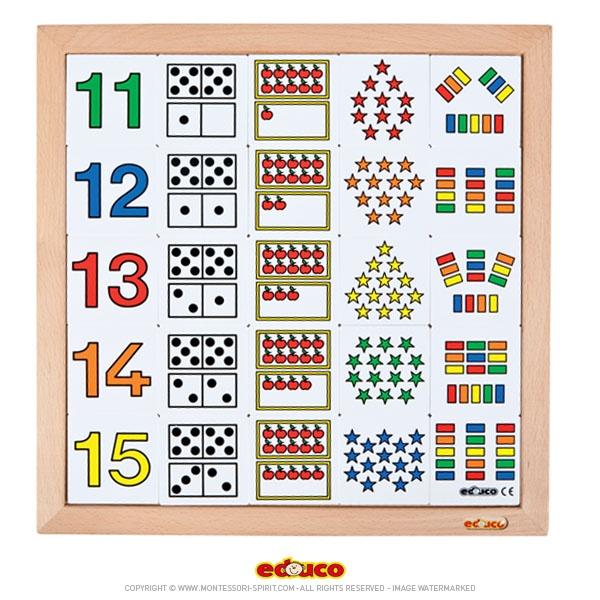 Top Apprendre à compter de 11 à 20 - Montessori Spirit TG26