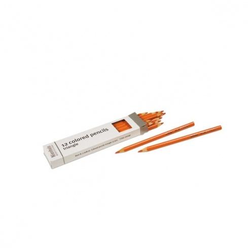 Boite de 12 crayons à 3 côtés : orange