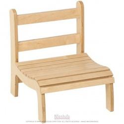 Chaise à lattes basse : 13cm