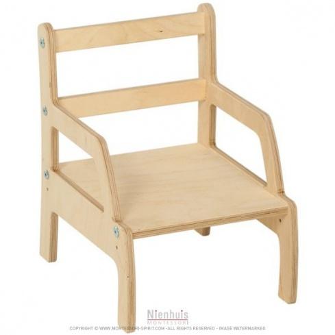 chaise de sevrage r glable 13 16 cm montessori spirit. Black Bedroom Furniture Sets. Home Design Ideas