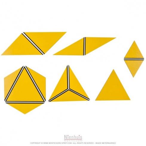 Ensemble des triangles constructeurs : jaunes
