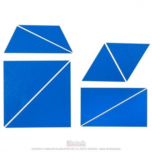 Ensemble des triangles constructeurs : bleus
