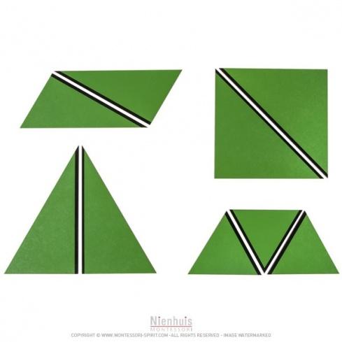 Ensemble des triangles constructeurs : verts