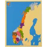Carte puzzle Norvège