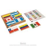 Puzzle de drapeaux des Amériques