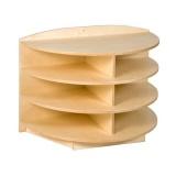 Tête de meuble étagères arrondies (H 69cm)