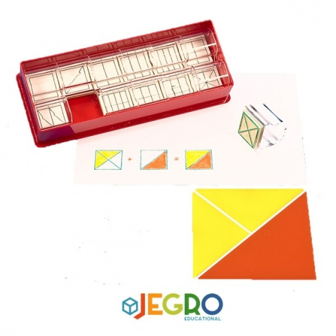 Fraction stamps square