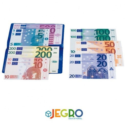 Euro banknotes assortment in wallet