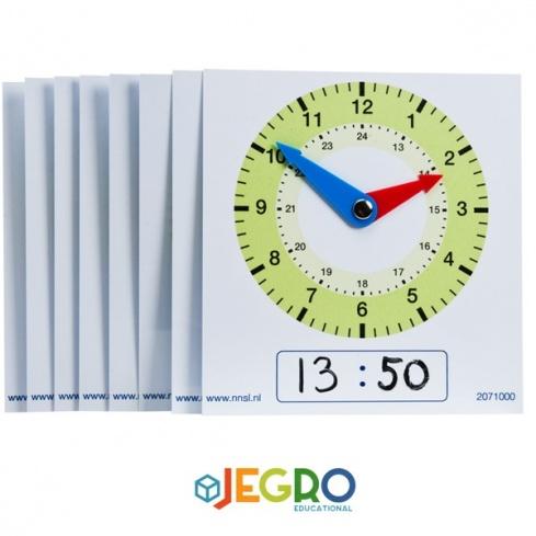 Plastic clocks AM/PM pupils
