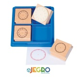 Clock stamps 6 cm