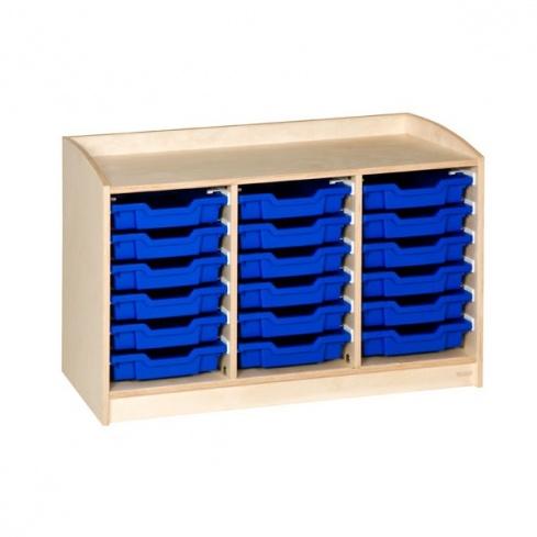 meuble 18 tiroirs h 69cm montessori spirit. Black Bedroom Furniture Sets. Home Design Ideas