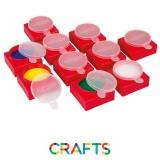 10 petits pots avec couvercle pour peinture à la main