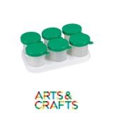 Support avec 6 pots de peinture 320 ml anti-débordement inclus