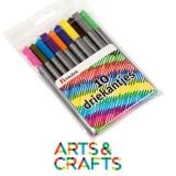 Boite de 10 feutres couleurs assorties pointe fine 2.6 mm