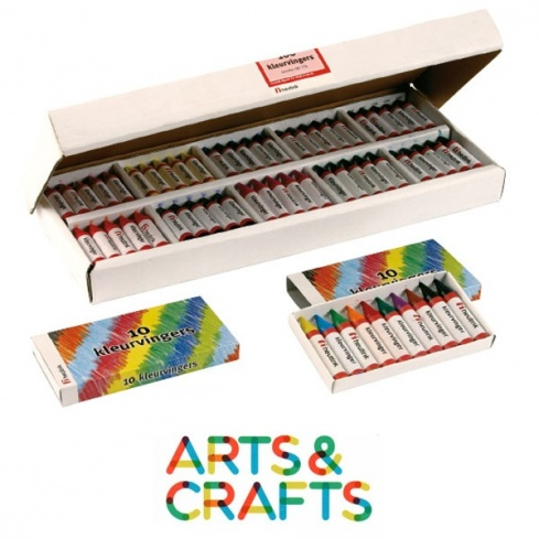 boite de crayons de cire assortis 10 couleurs montessori spirit. Black Bedroom Furniture Sets. Home Design Ideas