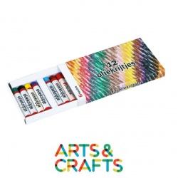 Boite 12 crayons pastel à l'huile assortis
