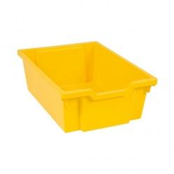 Tiroir plastique jaune(H 15cm)
