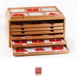 Formes géométriques blanches et rouges (meuble non inclus)