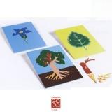 Ensemble de 3 puzzles de botanique
