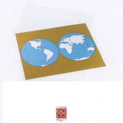 Carte de contrôle muette du planisphère Gonzagarredi