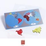 Planisphère du monde - couleurs Gonzagarredi