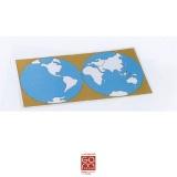 Carte de contrôle muette du planisphère 1MM221BS01