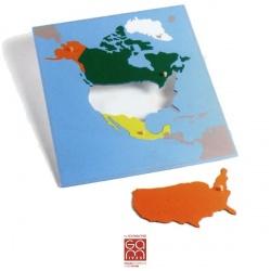 Carte Puzzle Amérique du Nord