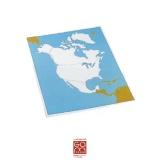 Carte de contrôle muette Amérique du Nord