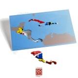 Carte Puzzle Amérique Centrale