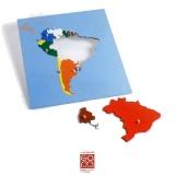 Carte puzzle Amérique du Sud