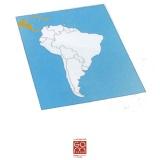 Carte de contrôle muette Amérique du Sud